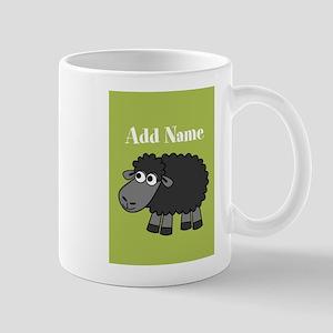 Black Sheep Add Name Lime Mugs