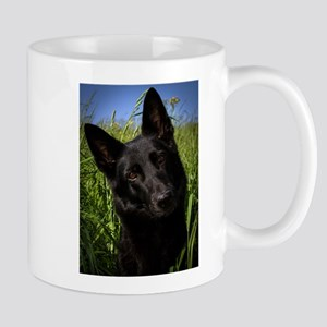 german shepherd black Mugs