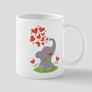 Elephant with Hearts Mug