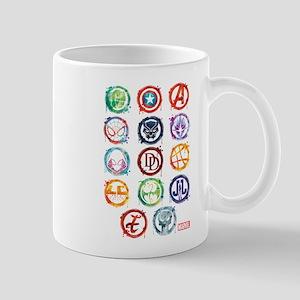 Marvel Icon Favorites Splatter Mug