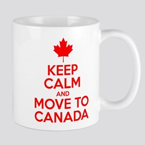 Keep Calm and Move to Canada Mugs