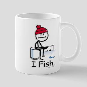Ice Fishing Stick Figure Mug