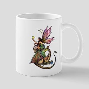 Dragon's Orbs Fairy and Dragon Art Mug