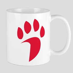 Davidson Wildcat PawPrint Red 11 oz Ceramic Mug