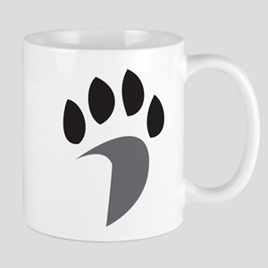 Davidson Mascot PawPrint Grey Bl 11 oz Ceramic Mug
