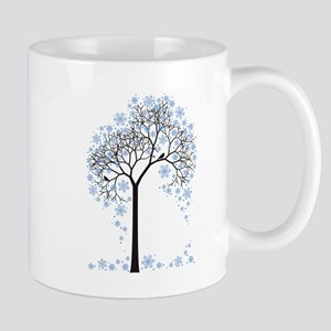 Winter tree with birds Mugs