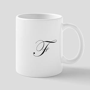 Edwardian Script-F Mug