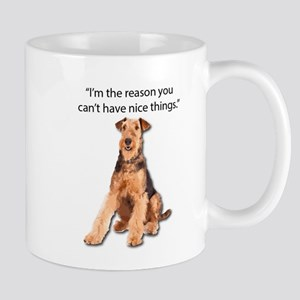 Airedales: Why you can't have nice things Mugs