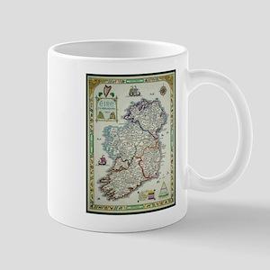 Ireland Map - Irish Eire Erin Historic Map Mugs