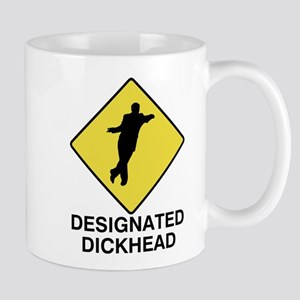 Designated Dickhead Traffic Sign Mug