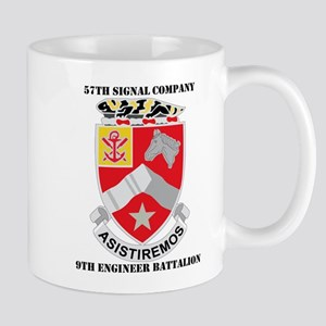 57th SC, 9th Engineer Bn with Text Mug