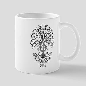 Dark Treble Clef Tree of Life Mugs