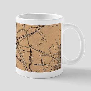 Vintage Map of The Gettysburg Battlefield (18 Mugs