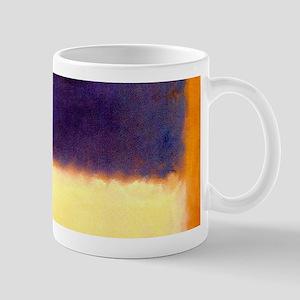rothko-orange box with purple & yellow Mugs