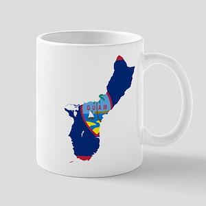 Guam Flag and Map Mug