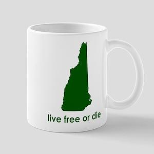 GREEN Live Free or Die Mug