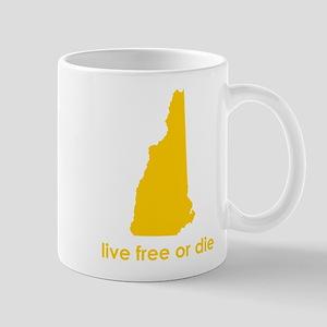 YELLOW Live Free or Die Mug