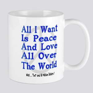 Peace, Love & Money Mug