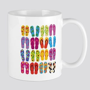 Colorful-Flip-Flops-Vec Stainless Steel Trave Mugs
