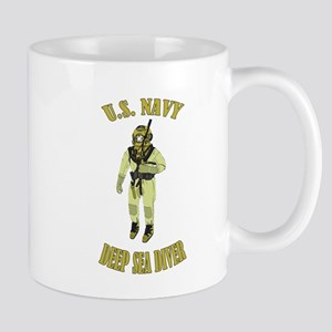 U.S. Navy Deep Sea Diver Large Mugs