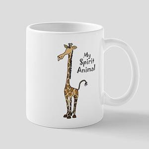 Funny Giraffe Spirit Guide Mugs