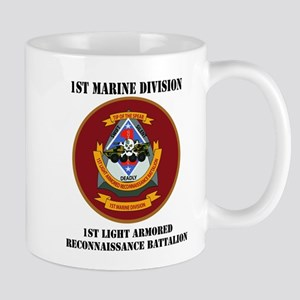 1st Light Armored Reconnaissance Bn with Text Mug