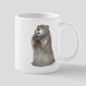 emerging groundhog Mug