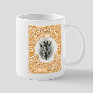 1922 Tanganyika Giraffe Stamp Orange Mug