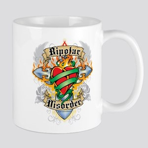 Bipolar Disorder Cross & Hear Mug