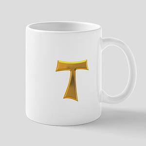 Golden Franciscan Tau Cross Mug