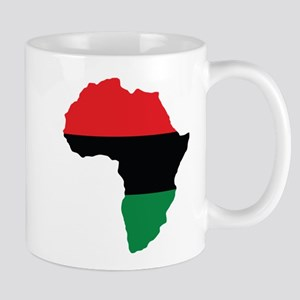 Red, Black and Green Africa Flag Small Mug
