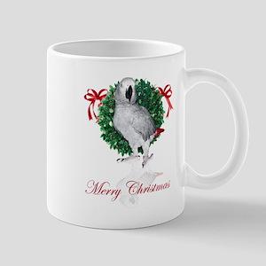 african grey christmas Mug