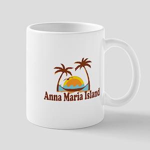 Anna Maria Island - Palm Trees Design. Mug