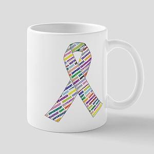all cancer rep ribbon 2 Mugs