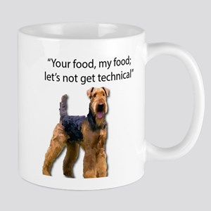 Your Food - My Food Airedale Mugs