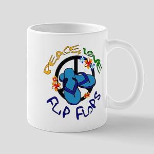 peace, love, flip-flops Mug