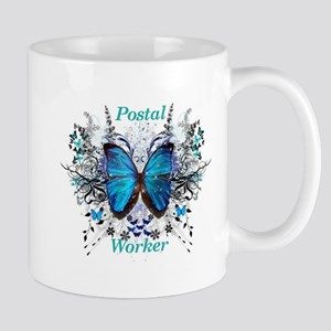 Postal Worker Butterfly Mugs