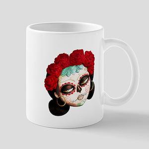 El Dia de Los Muertos Girl Mugs