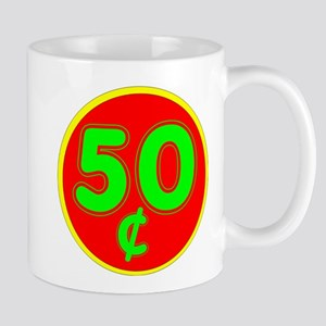 PRICE TAG LABEL - 50c - FIFTY CENTS Small Mug