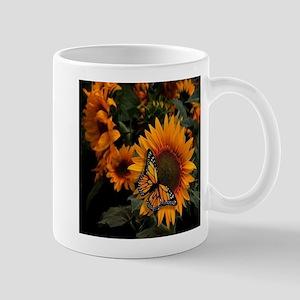 Sunflower Radiance Monarch Butterfly Mug