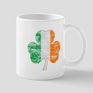 Vintage Irish Flag Shamrock Mugs