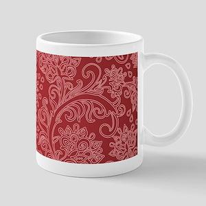 Paisley Damask Red Vintage Pattern Mugs