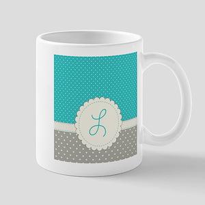 Cute Monogram Letter L Mugs