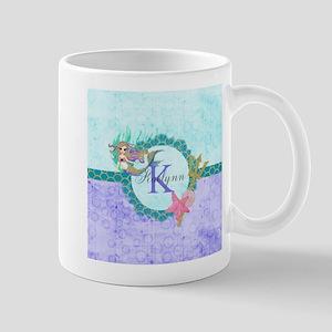 Personalized Monogram Mermaid Mugs