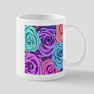 Abstract Colorful Roses Mug