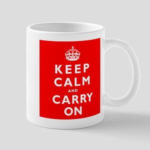 KEEP CALM and CARRY ON original red Mug