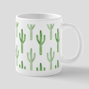 Cute Watercolor Cactus Pattern Mugs