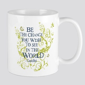 Gandhi Vine - Be the change - Blue & Green Mug