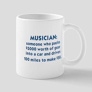 MUSICIAN: SOMEONE WHO PACKS $5000 WORTH OF GE Mugs