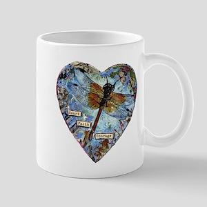 heart faith courage Mug